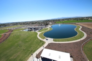 This 6-acre lake in Peoria's Pioneer Lake is created with A+ reclaimed or recycled water.