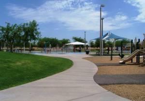 Crane Co. provides free remediated groundwater to irrigate Goodyear's Community Park.
