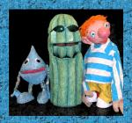 Kids get a lesson in desert living from Zoner and Drip of the Great Arizona Puppet Theater.