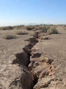 Pumping ground water opens fissures like this one in the West Valley.