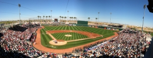 Goodyear Ballpark helps to spread the message to save water.