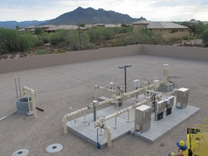 An injection well in northeast Phoenix helps the city store water in the aquifer.