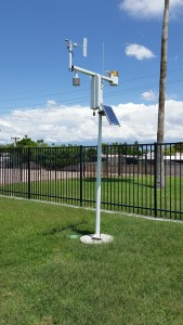 A Weather Station monitors water needs in Scottsdale parks.