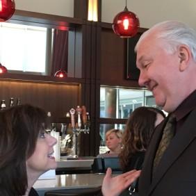 AMWUA Board Member and Peoria Mayor Cathy Carlat and AZ Water Association Executive Director David Iwanski